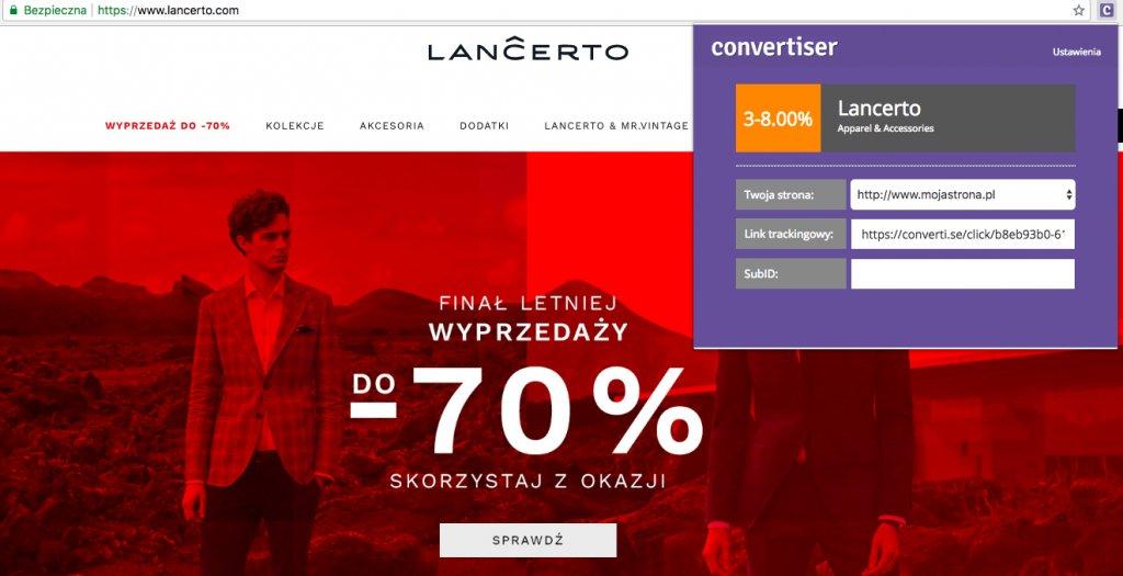 Lancerto program partnerski Convertiser